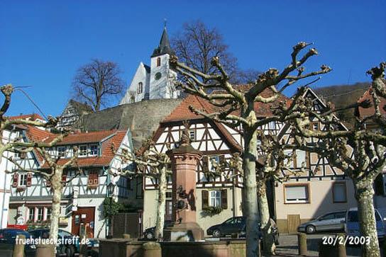 Wanderung vom Altstadt-Marktplatz in Zwingenberg an der Bergstraße zum Fürstenlager